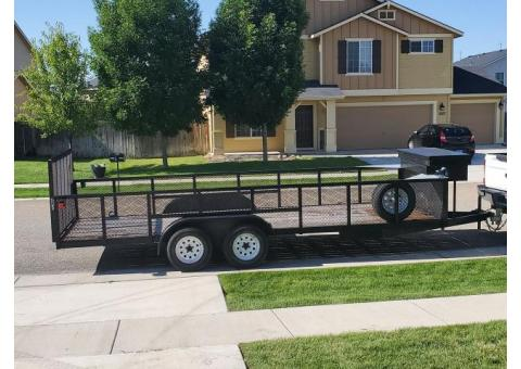20' open bed car trailer with 2' sides