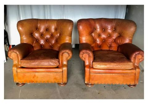 RALPH LAUREN LEATHER CHAIRS